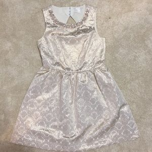 Romeo and Juliet Couture rose gold dress